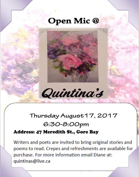 Open mic Aug 2017
